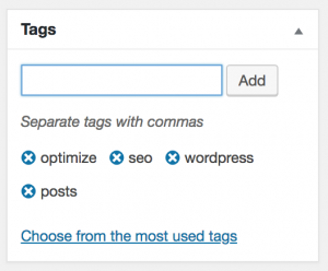 add tags wordpress seo