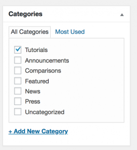 add category to wordpress