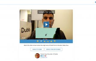 video pitch using Dubb