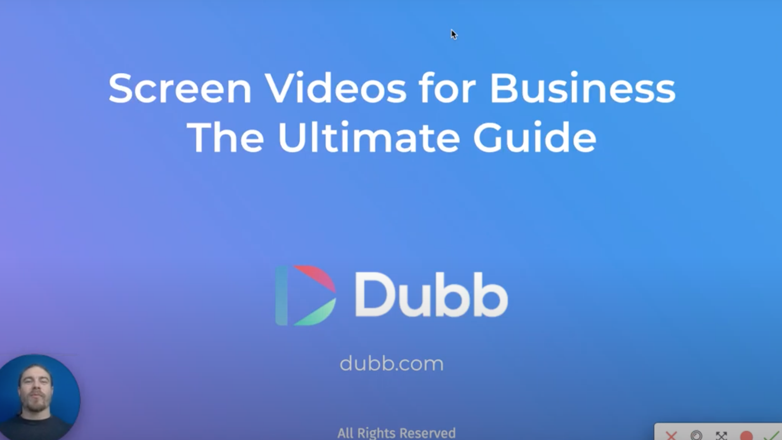 Screen videos for Business