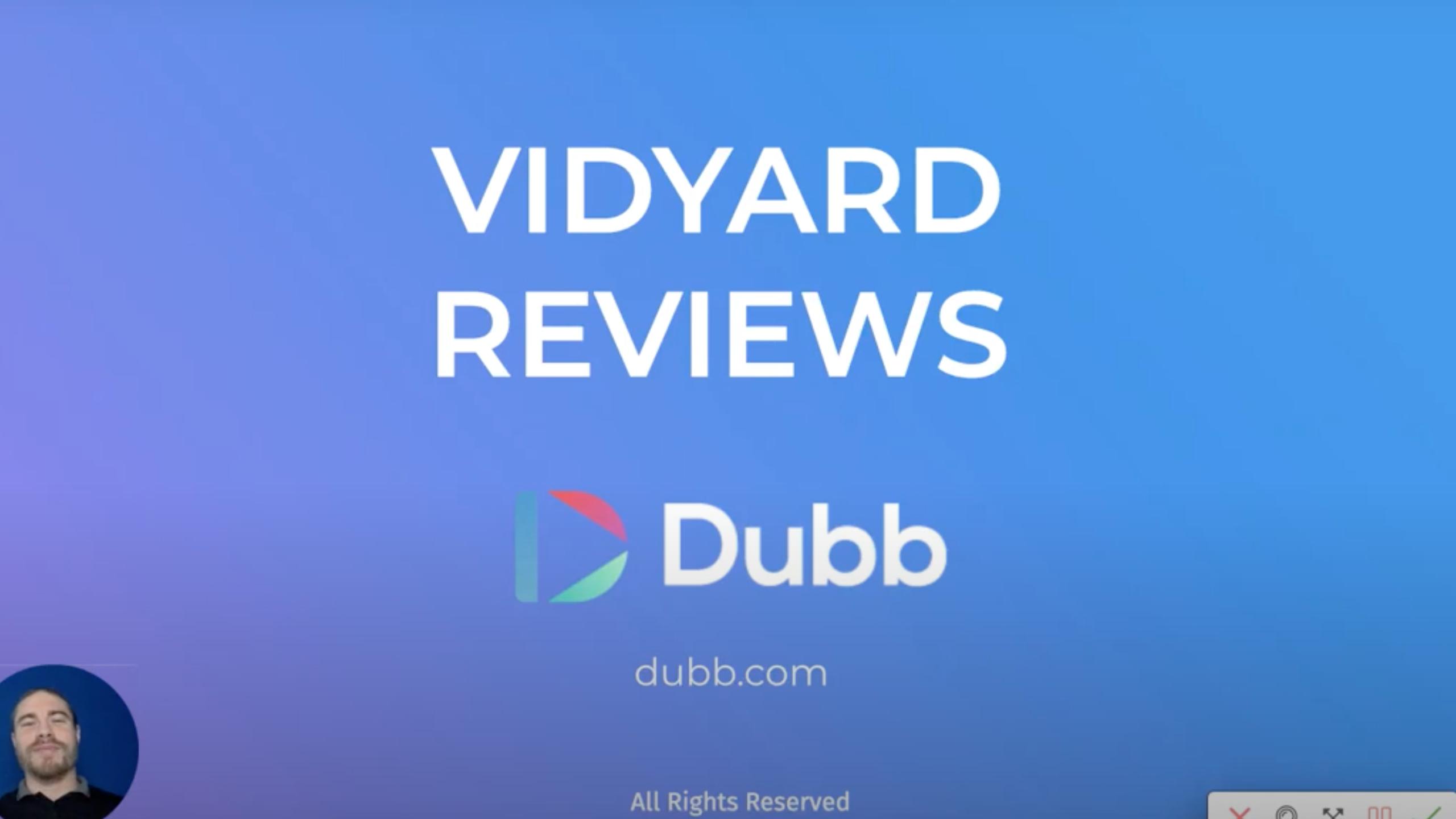Vidyard Reviews Compared to Dubb Reviews