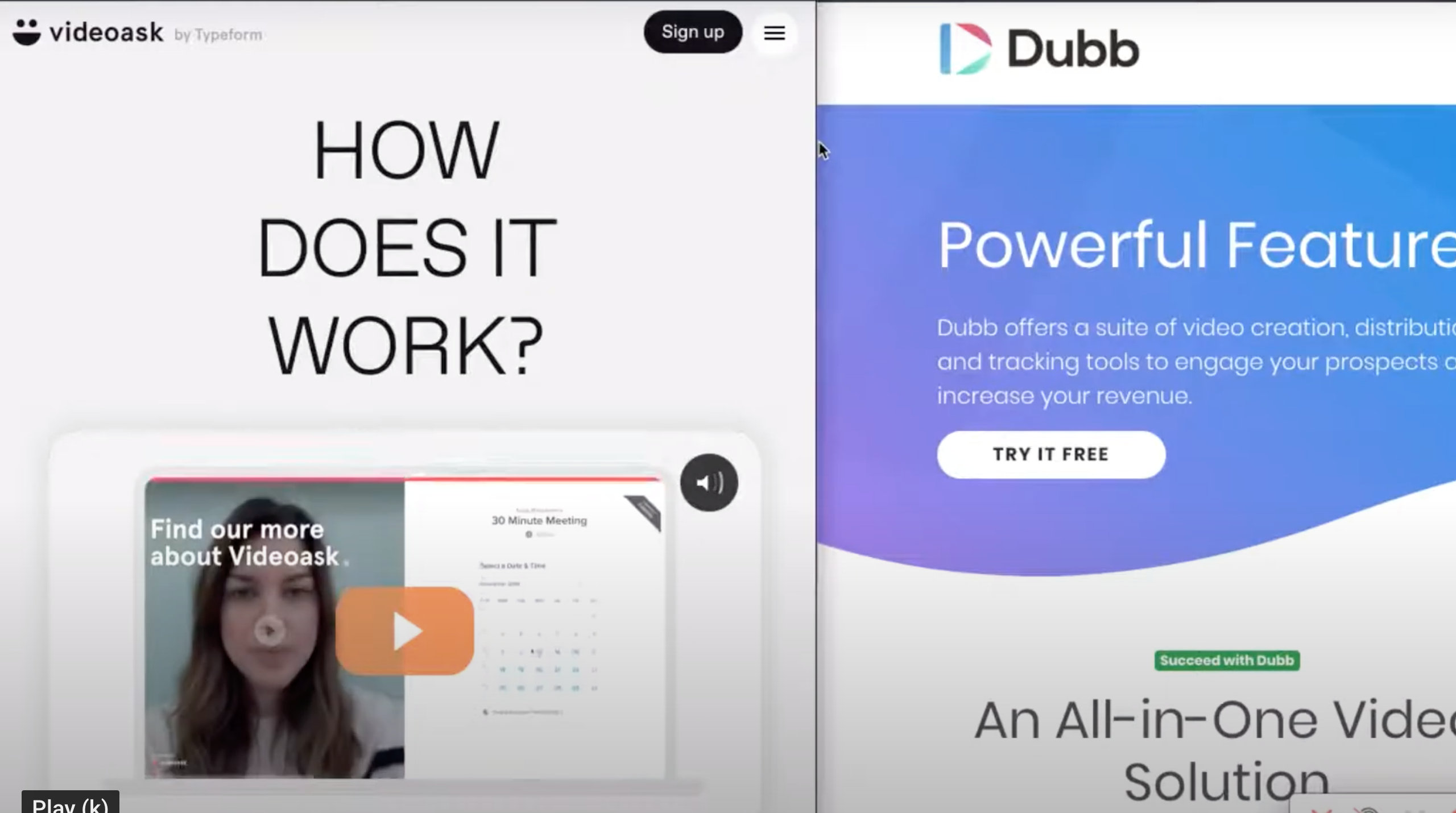 VideoAsk compared to Dubb