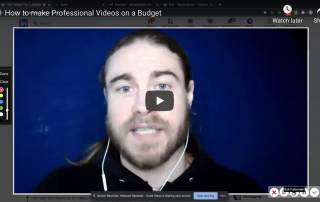 How to Make Professional Videos on a Budget