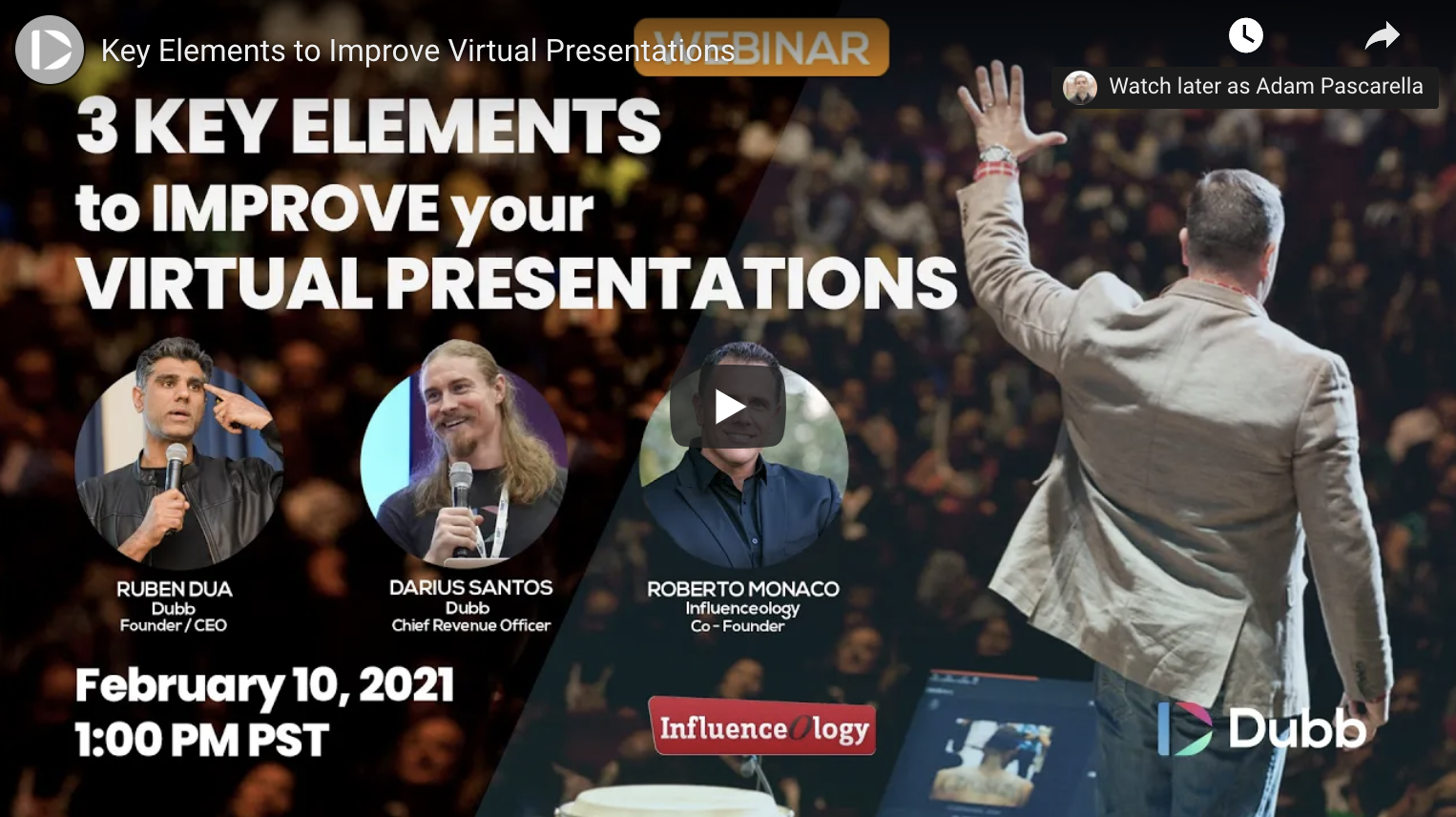 Three Key Elements for Virtual Presentations