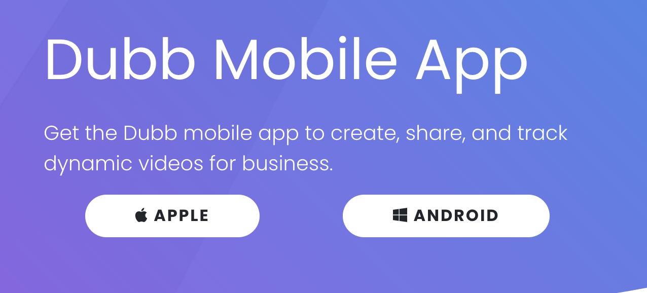 Dubb Mobile App