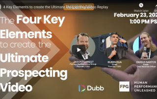 The Four Key Elements to Create the Ultimate Prospecting Video