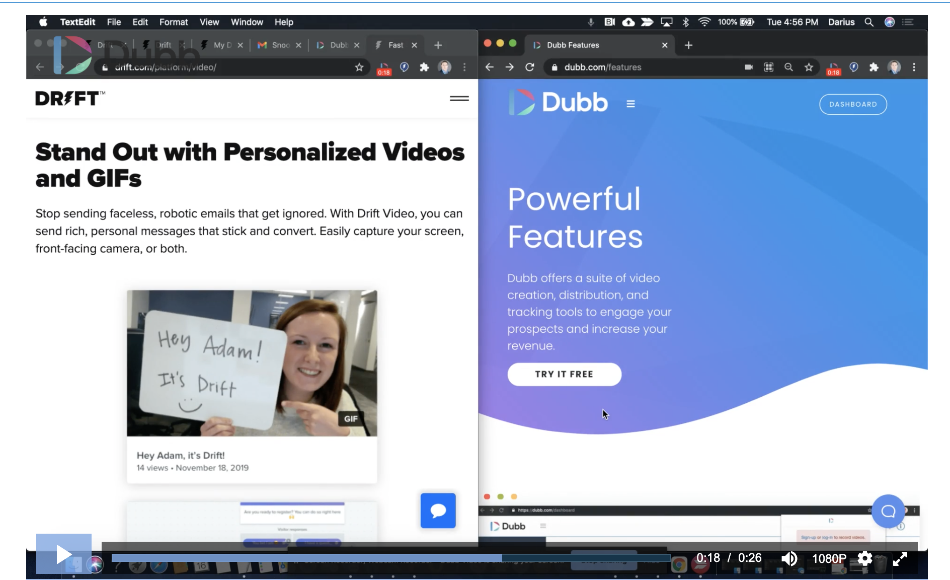 Drift Video Pricing vs. Dubb Pricing