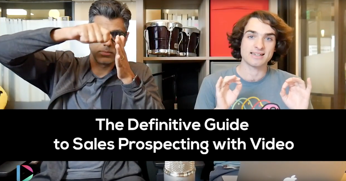 sales prospecting with video
